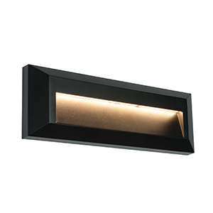 Indirect LED Outdoor Square Grey Guide Pathway Wall Light IP65 SAXBY SEVERUS
